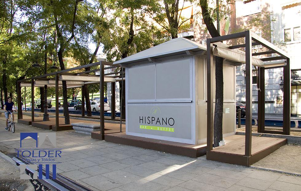 Terraza velador Para la terraza del Restaurante Hispano Arturo, Castellana 72, Madrid