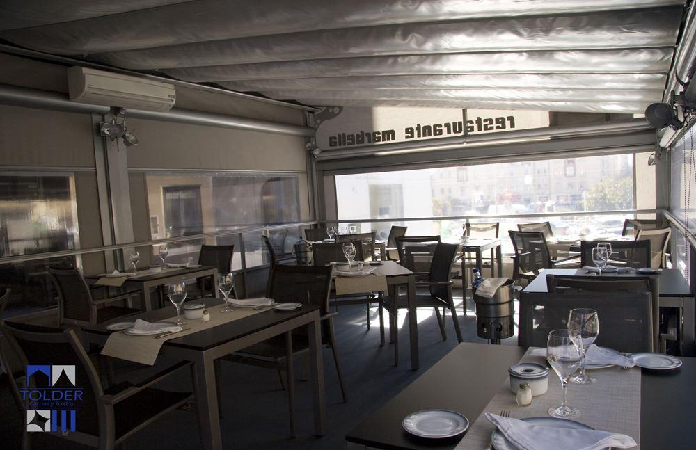 Pérgola para el Bar Restaurante Marbella