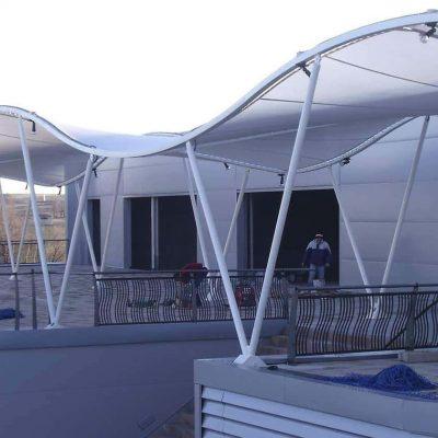 Arquitectura textil centro comercial de Pinto Tolder