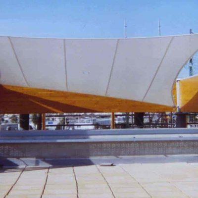 Arquitectura textil centro comercial Habaneras Tolder