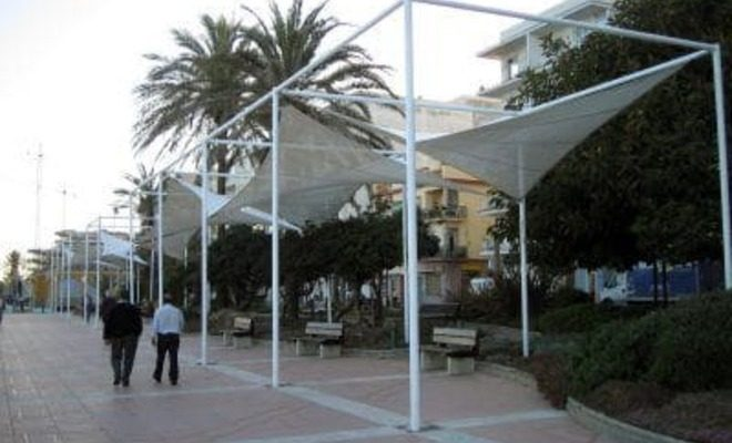 Arquitectura textil paseo marítimo de Estepona Tolder 3