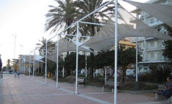 Arquitectura textil paseo marítimo de Estepona Tolder 9