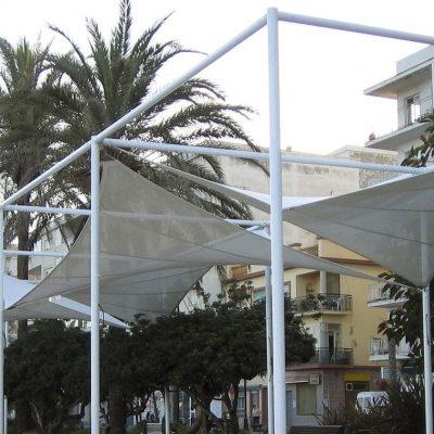 Arquitectura textil paseo marítimo de Estepona Tolder