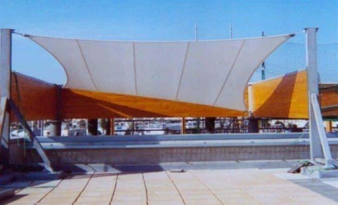 Arquitectura textil centro comercial Habaneras Tolder 2