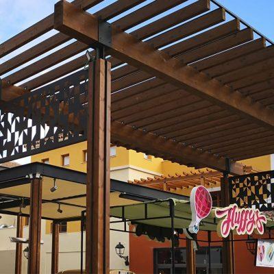 CC Plaza Mayor pérgola entrada 1, Tolder