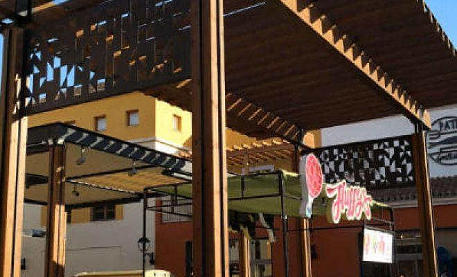 CC Plaza Mayor pérgola entrada 3, Tolder