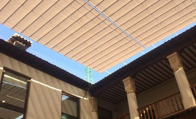 Toldos planos motorizados Palacio de Fuensalida Tolder 2
