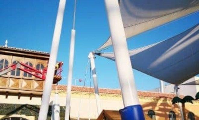Velas y tensados CC Plaza Mayor parque de niños Tolder 3