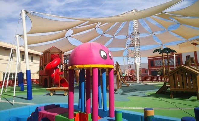 Velas y tensados CC Plaza Mayor parque de niños Tolder 2