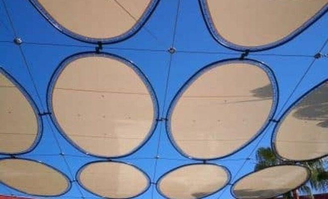 Velas y tensados CC Plaza Mayor plaza rosas Tolder 3