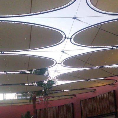 Velas y tensados CC Plaza Mayor plaza rosas Tolder